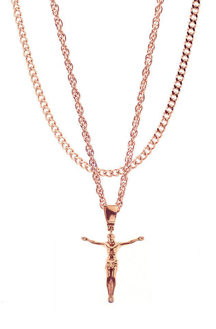 Mister  Jesus Necklace - Rose Gold - Mister SFC