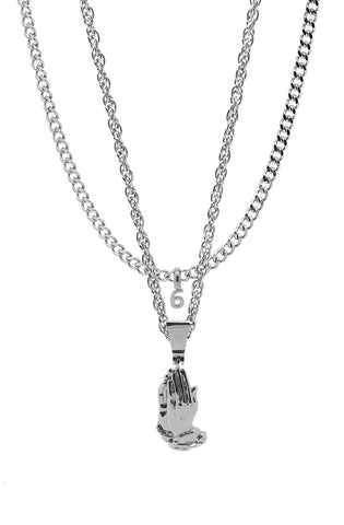 Mister  Pray Necklace - Chrome - Mister SFC