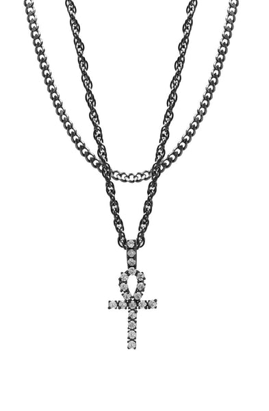 Mister  Ankh Necklace - Black