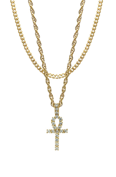 Mister  Ankh Necklace - Gold