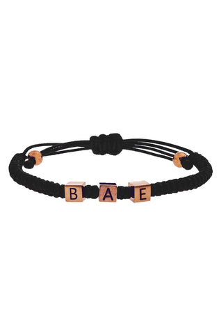 Mister Bae Bead Bracelet - Black & Rose Gold