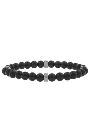 Mister Royal Bead Bracelet - Onyx & Chrome