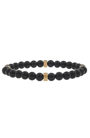 Mister Royal Bead Bracelet - Onyx & Gold