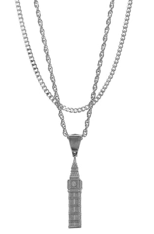 Mister  Big Ben Necklace - Chrome