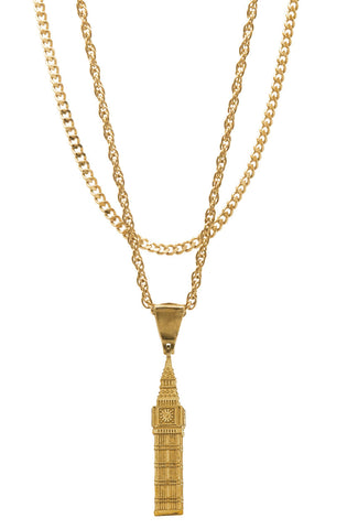 Mister  Big Ben Necklace - Gold