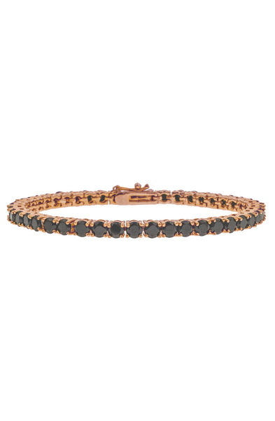 Mister Crystal Bracelet - Rose Gold & Black
