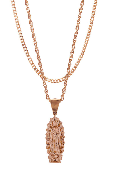 Mister  Guadalupe Necklace - Rose Gold