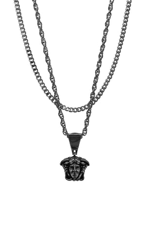 Mister  Micro Medusa Necklace - Black