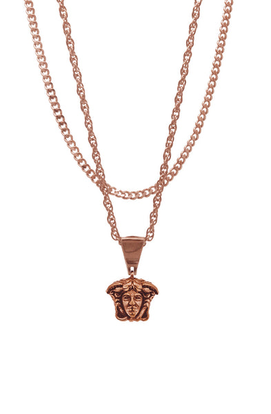 Mister  Micro Medusa Necklace - Rose Gold