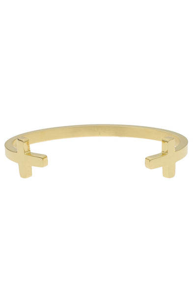*Mister Double Cross Cuff Bracelet - Gold - Mister SFC
