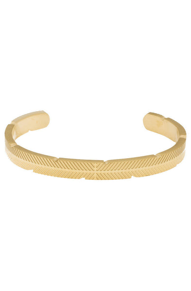 *Mister Feather Cuff Bracelet - Gold - Mister SFC - 1