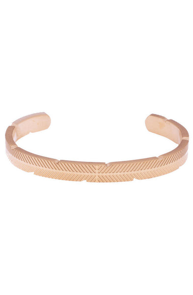 *Mister Feather Cuff Bracelet - Rose Gold - Mister SFC - 1