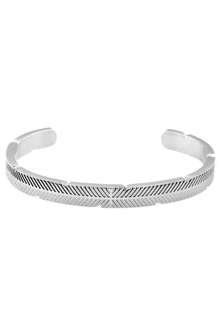 *Mister Feather Cuff Bracelet - Chrome - Mister SFC - 1