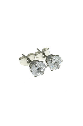 Mister Circle Cut Stud Earrings - Chrome - Mister SFC