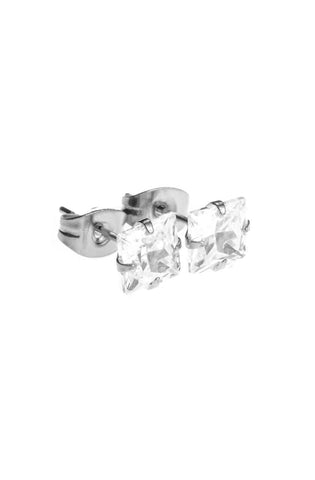 Mister Square Stud Earrings - Chrome - Mister SFC