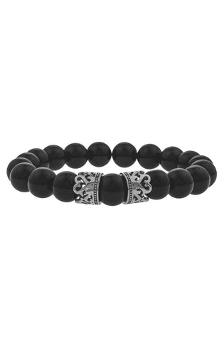 Mister Queen Bead Bracelet - Onyx & Chrome-ACCESSORIES,FOR HER-Mister SFC