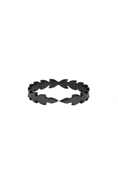 Mister Caesar Ring - Black