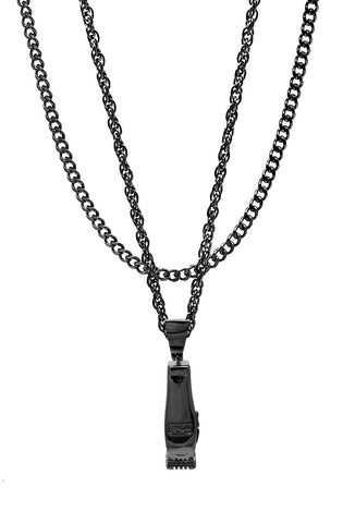 Mister  Clipper Necklace - Black - Mister SFC