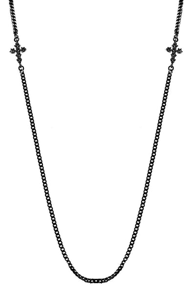 Mister  Double Micro Crucis Necklace - Black - Mister SFC