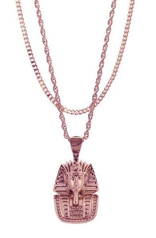 Mister  Micro King Tut Necklace  - Rose Gold