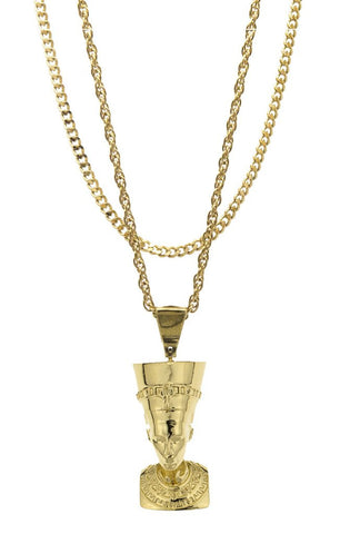 Mister  Nefertiti Necklace - Gold