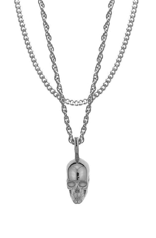 Mister  Skull Necklace - Chrome