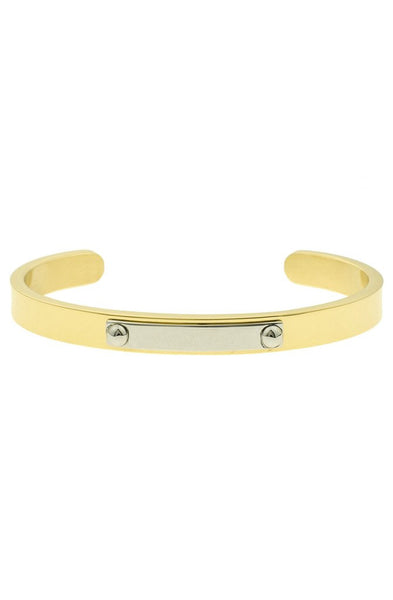 *Mister Triaxle Cuff Bracelet - Gold & Chrome