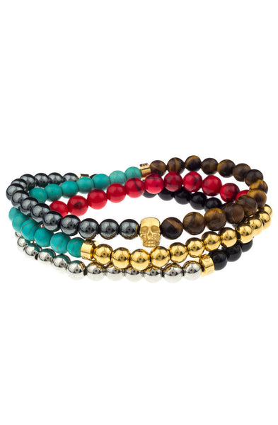 Mister Trinum Bead Bracelet - Multi Color Gemstone - Mister SFC