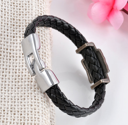 Image of Metal Dota 2 Game Leather Wristband