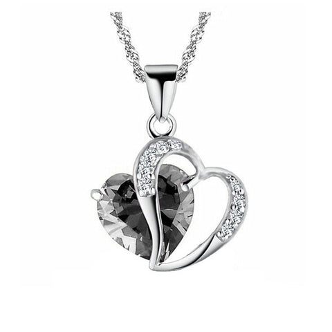 Image of Love Heart Chain Necklace
