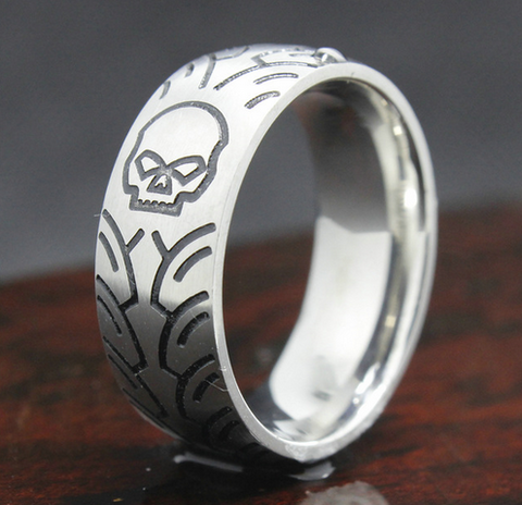 Skull Head Ring Stainless Stell