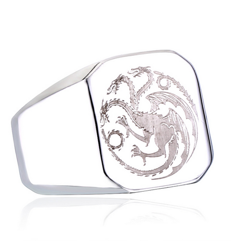 Game of Thrones Targaryen House Logo Fire Dragon Ring Stainless Steel