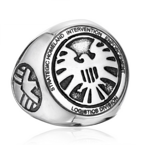 Shield Movie Ring Stainless Steel