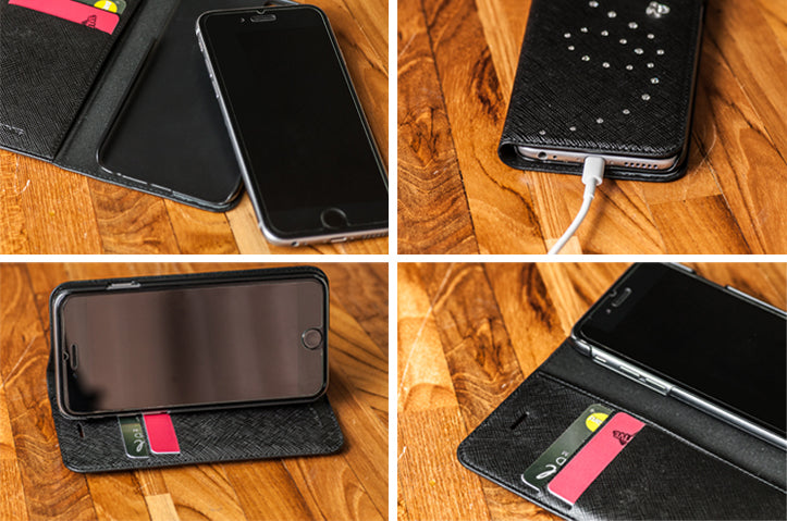 iPhone Leather wallet credit cards
