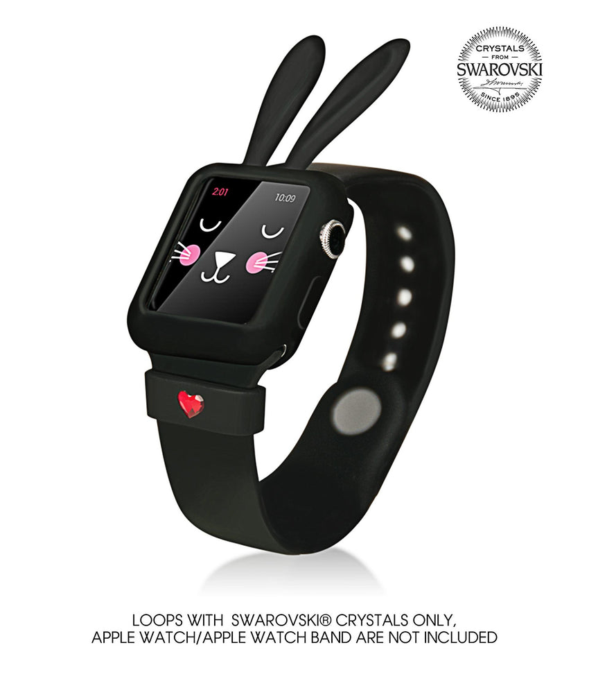 Black Silicone Bunny Ear Bumper | Fashion Apple Watch Accessories - Bling My Thing - Bling My Thing