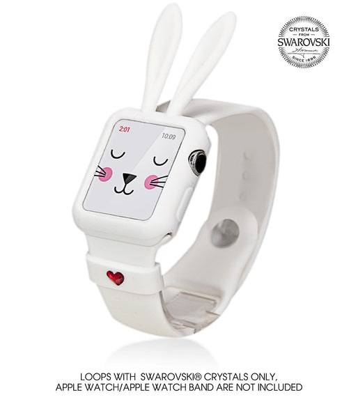 White Silicone Bunny Ear Bumper | Cute Accessories for Apple Watch Series 1 and Series 2 - Bling My Thing