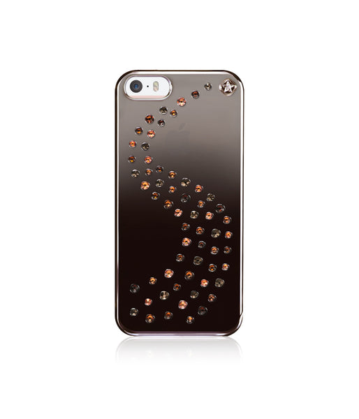 Brown Metallic Mirror Case for iPhone SE : Milky Way / Autumn Leaves Mix