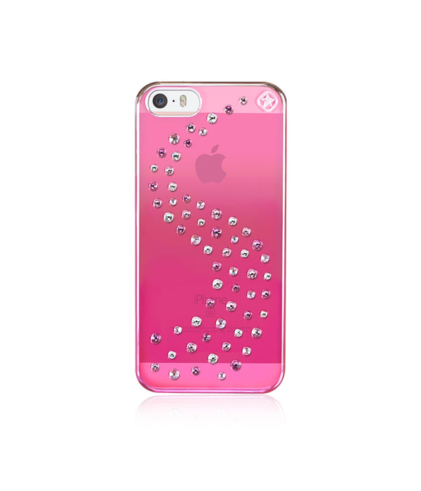 Pink Metallic Mirror Case for iPhone SE : Milky Way / Love Mix - Bling My Thing