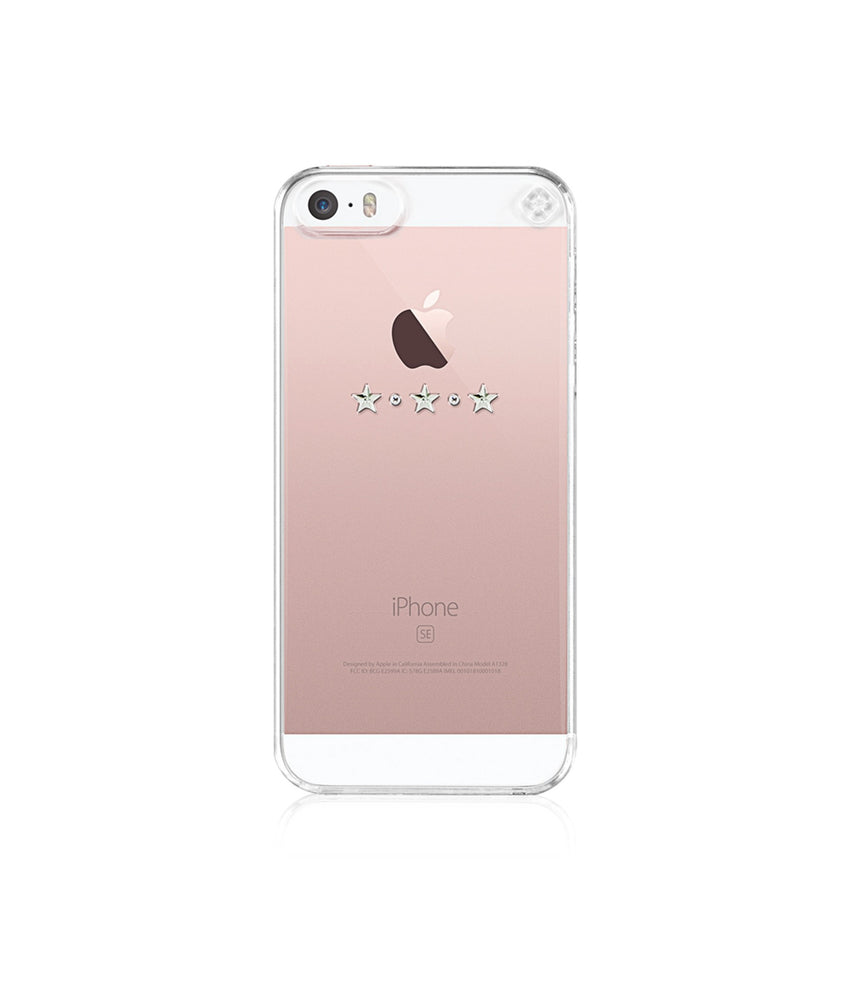 Transparent Case for iPhone SE : Les Étoiles / Crystal - Bling My Thing