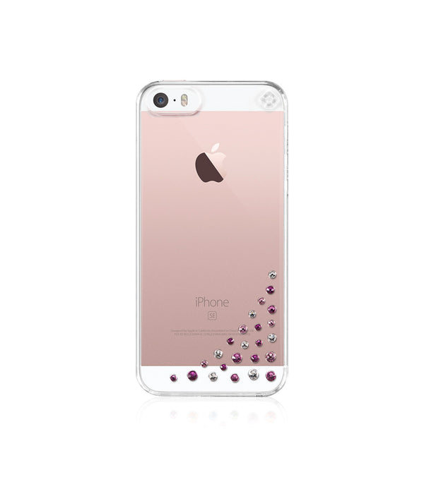 Transparent Case for iPhone SE : Diffusion / Pink Mix - Bling My Thing