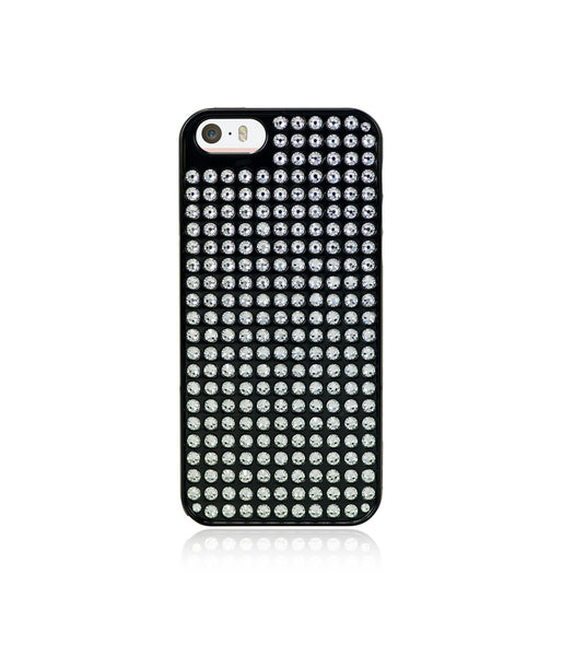 Pure Bling Extravaganza Black Metallic Case for iPhone SE / Crystal - Bling My Thing