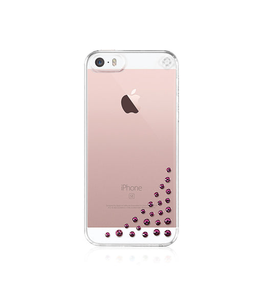 Transparent Case for iPhone SE : Diffusion / Fuchsia