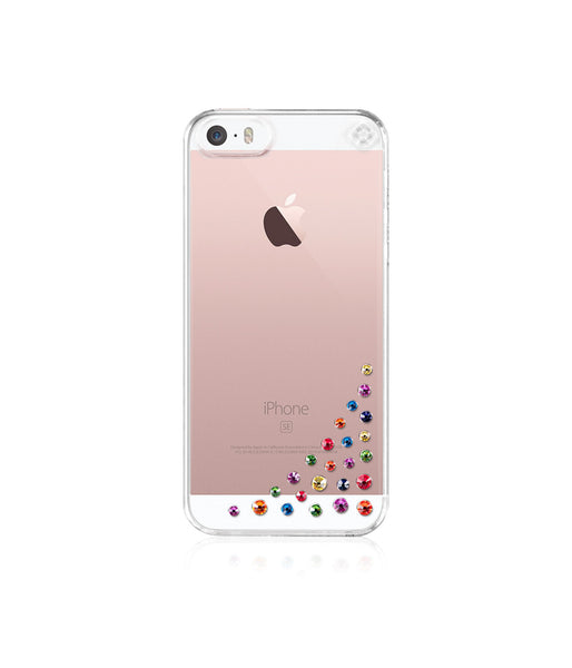 Transparent Case for iPhone SE : Diffusion / Rainbow Mix