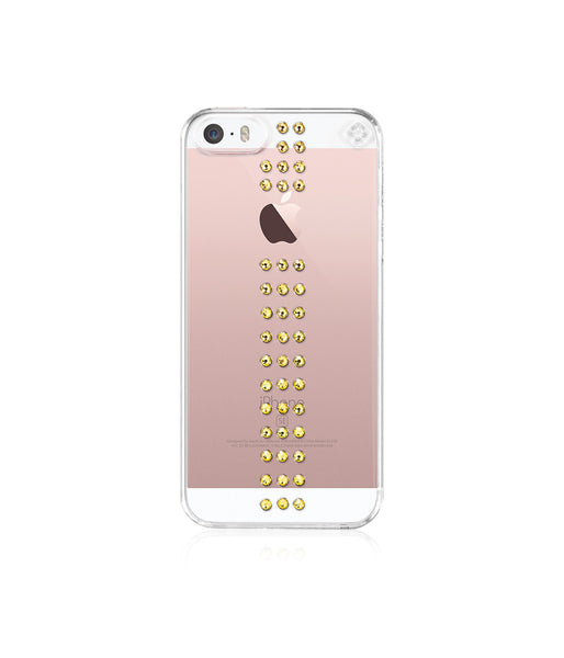 Transparent Case for iPhone SE : Stripe / Light Topaz - Bling My Thing