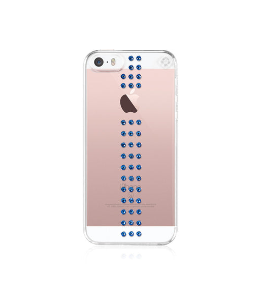 Transparent Case for iPhone SE : Stripe / Capri Blue