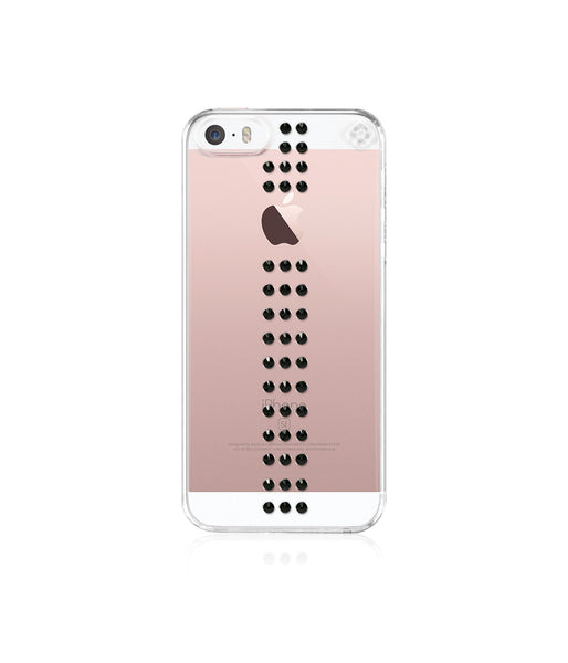 Transparent Case for iPhone SE : Stripe / Cosmo Jet - Bling My Thing