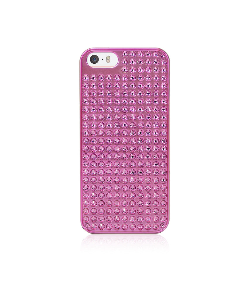Pure Bling Extravaganza Pink Metallic Case for iPhone SE / Rose - Bling My Thing