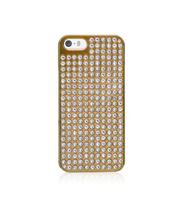 Pure Bling Extravaganza Gold Metallic Case for iPhone SE / Crystal - Bling My Thing