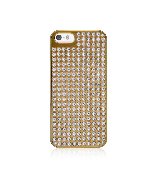 Pure Bling Extravaganza Gold Metallic Case for iPhone SE / Crystal