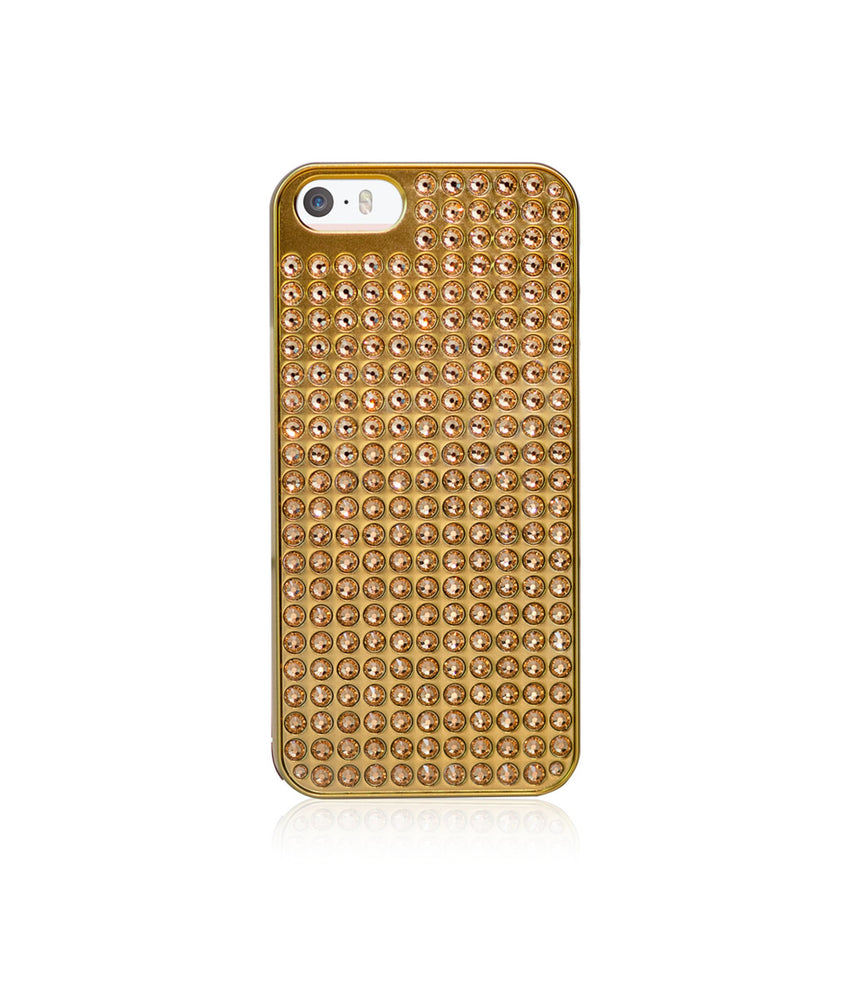 Pure Bling Extravaganza Gold Metallic Case for iPhone SE / Light Colorado Topaz - Bling My Thing